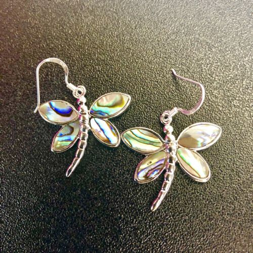 Paua Dragonfly Large Earrings PE03-DF